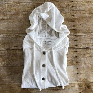 DKNY Button Front Flowy Hoodie